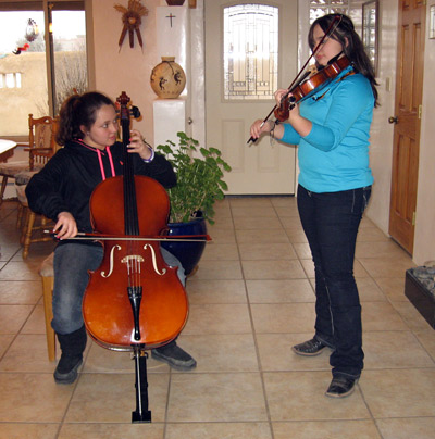Lila and Julia - cello and viola